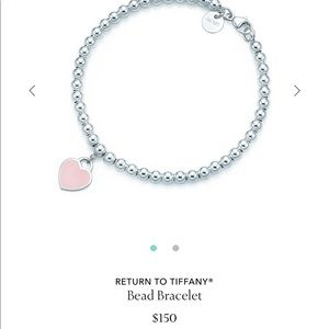 Tiffany & Co pink bead bracelet